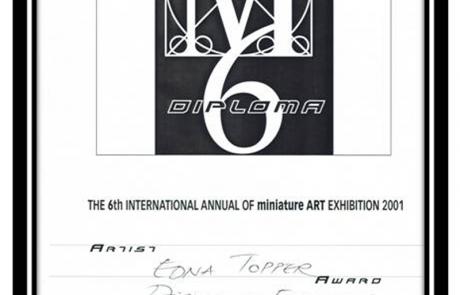 פרס הצטיינות בתערוכת מיניאטורות בינלאומית – שבדיה