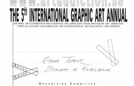 פרס הצטיינות בתערוכה הבינלאומית לגרפיקה אמנותית – שבדיה